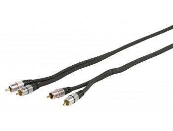RCA-kabel 2x hane - 2x hane 5 m