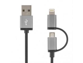 Lightning /USB Micro-kabel 1 meter