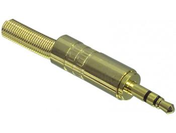 3.5 mm telekontakt stereo hane guld