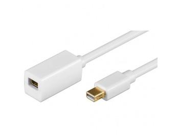 Mini DisplayPort förlängningskabel hona - hane 2m