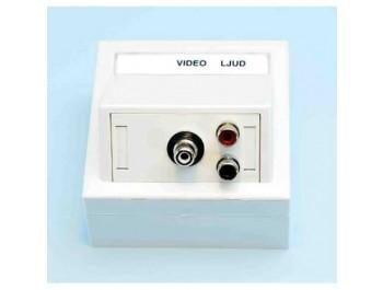 Vägguttag med Video och Ljud