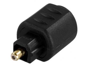 Optisk adapter Miniplug hona till Toslink hane