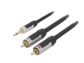 Profigold - Högpresterande AUX-kabel 1 meter