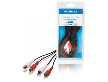 RCA-kabel 2x hane - 2 x hona 10 meter