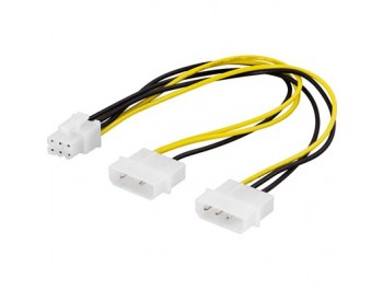 Adapterkabel 2x4-pin till 6-pin PCI-Express