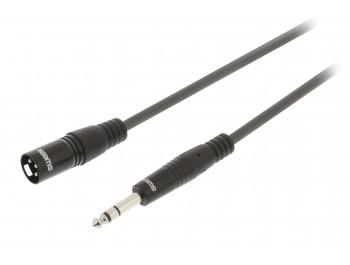 XLR-hane till Tele-kabel balanserad 5 meter