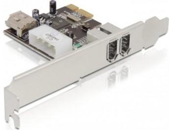 DeLOCK PCI-Express x1 kort, Firewire 400