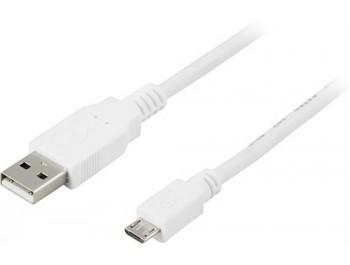 USB 2.0-kabel A - Micro B Vit