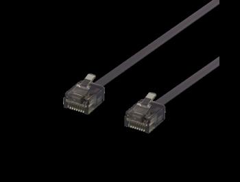 Platt U/UTP Cat6a patchkabel 500MHz Svart