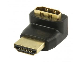 Vinklad HDMI adapter slim 270 - hona / hane