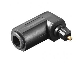Vinklad Optisk Toslink Adapter hona/hane