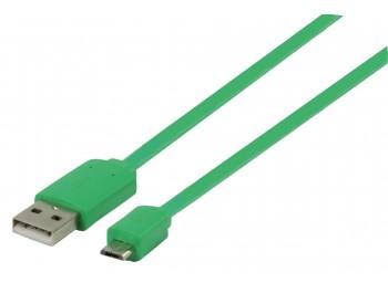 USB 2.0-kabel A - Micro B Flat 1 m