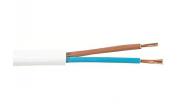 SKK-kabel 2x0.75 mm2 vit - metervara