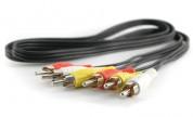 A/V-kabel 3xRCA hane - 3xRCA hane 1.5 m