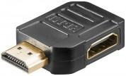 Vinklad HDMI adapter - hona / hane  90°
