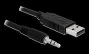 DeLock Omvandlare USB 2.0 Typ-A hane till Seriell TTL 3,5 mm 3-poligt stereojack 1,8 m (5 V)