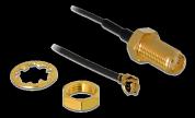 DeLock Antennkabel N-hona sluten till MHF I -hane, 1.13 20 cm, trådlängd 10 mm, svart