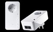 Devolo dLAN 550 duo+ starter kit, 2x Ethernet RJ45, upp till 500 mbps, vit