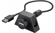 USB 2.0 Hi-Speed extension cable with mounting bracket, black