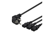 Adapterkabel CEE 7/7 till 3x rak IEC 60320