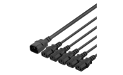 Apparatkabel IEC C14 till 5x IEC C13