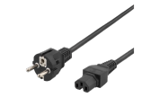 Apparatkabel 230v IEC C15 - 2 m