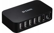 Dlink USB 2.0-Hub 7-portar med nätadapter
