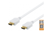 HDMI-kabel 4K - 1 m 4K Ultra HD Vit