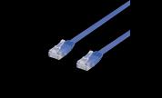Platt / Flat Nätverkskabel UTP Cat6 Blå