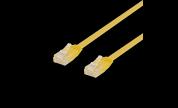 Platt / Flat Nätverkskabel UTP Cat6 Gul