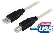 USB 2.0-kabel A hane - B hane 2 m