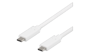 USB-C-kabel USB 3.1 Gen 1 - 10 Gbps - 60W - Vit