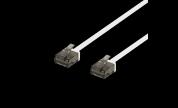 Platt U/UTP Cat6a patchkabel 500MHz Vit