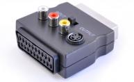 Adapter Scart - Scart+ 3x RCA S-video - finns på kabelbutiken.com