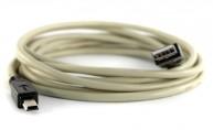 USB 2.0-kabel A hane - Mini B hane 5m - finns på Kabelbutiken.com