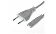Apparatkabel 230v IEC C7 1.8 m Vit