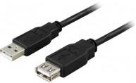 USB 2.0-kabel A hane - A hona 5 m