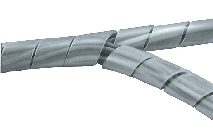 Kabelspiral transparent 25 - 100mm - metervara