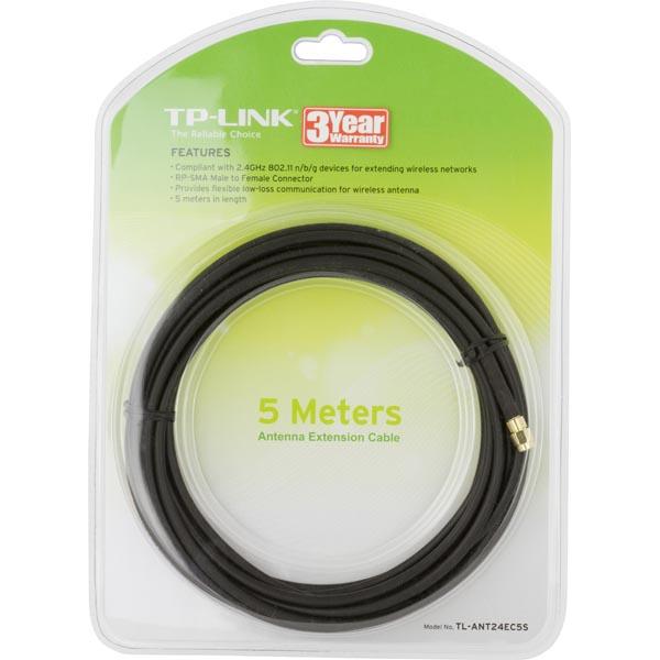 TP-LINK antennkabel för WLAN, RP-SMA hane till hona