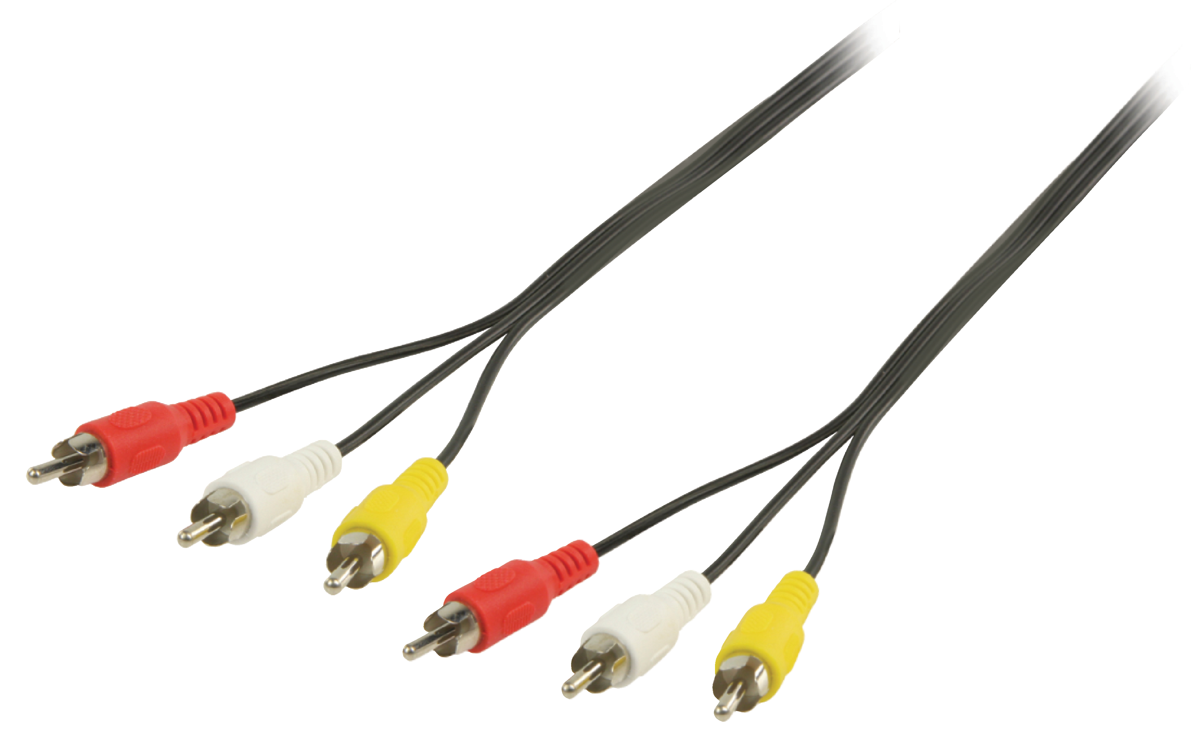 A/V-kabel 3xRCA hane - 3xRCA hane 2 m
